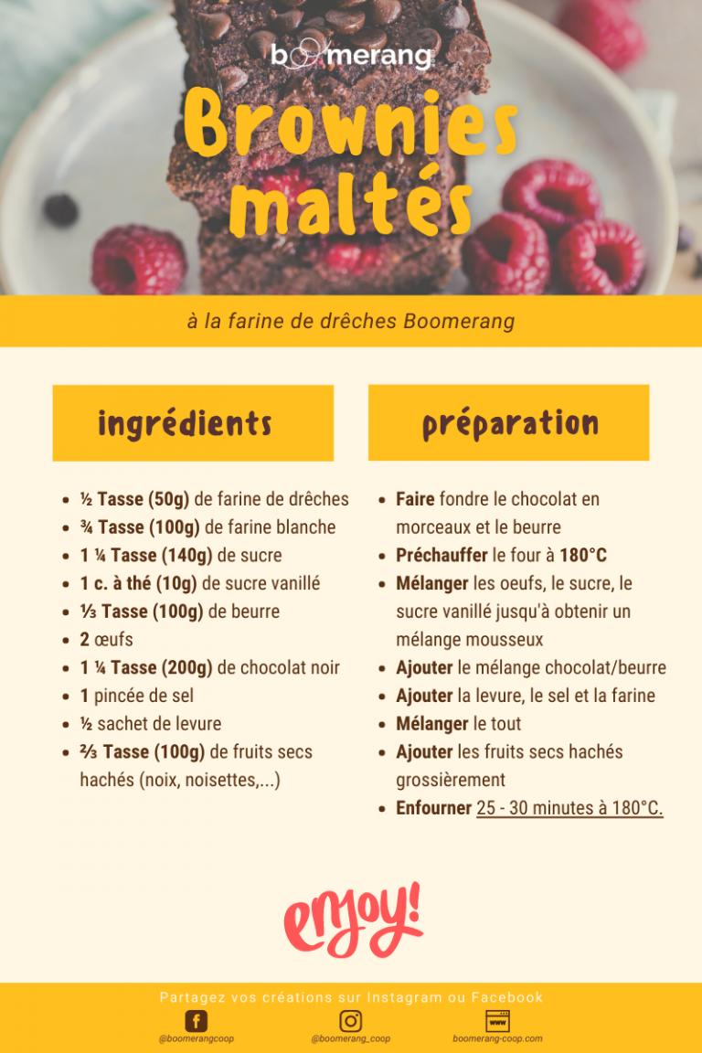 Brownies maltés