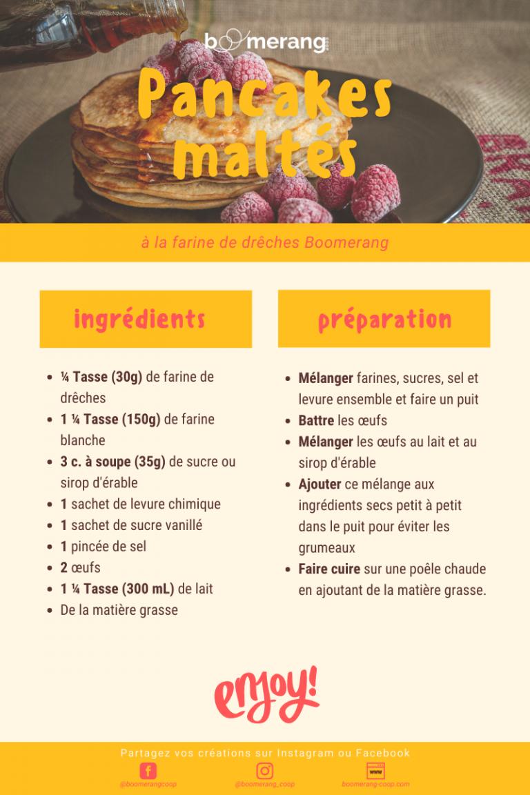 Pancakes maltés